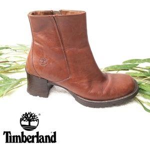Timberland Alyse Women's Brown Leather Zip Booties